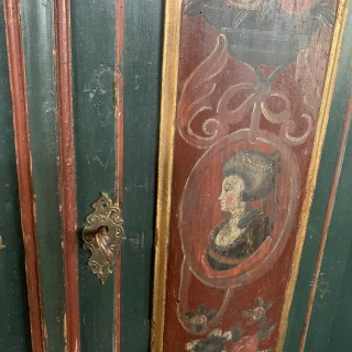 Well Painted Wardrobe Dated 1821