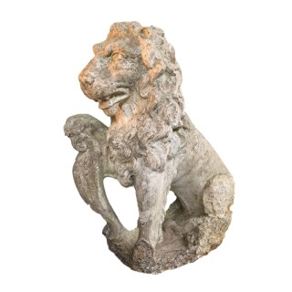 Early 19th Century Reconstituted Stone Lion