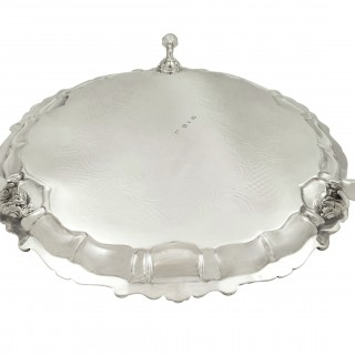 Antique William IV Sterling Silver Tray / Salver 1832