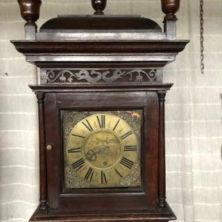 North Country Oak Grandfather Clock, Circa 1700.