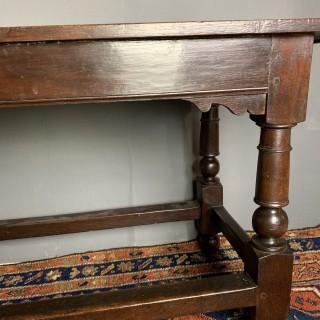 English Circa 1690 Oak Refectory / Side Table
