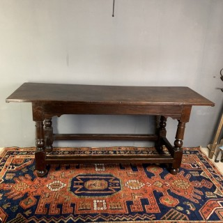 English Circa 1690 Oak Refectory / Side Table