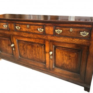 Oak Cupboard Dresser Base Very Good Colour And Patination C1780