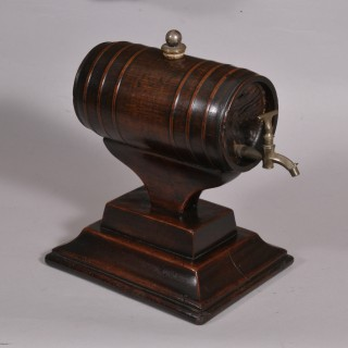 Antique Treen 18th Century Spirit or Rum Barrel