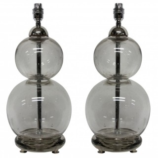 A PAIR OF FRENCH SODA SIPHON LAMPS