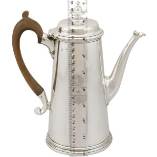 Sterling Silver Coffee Pot - Antique George II (1729)