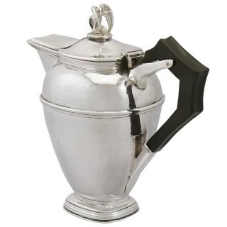 Sterling Silver Coffee Jug by Omar Ramsden - Antique George V (1929)