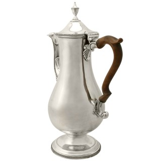 Sterling Silver Coffee Pot by Hester Bateman - Antique George III