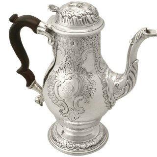 Sterling Silver Coffee Pot - Antique George II