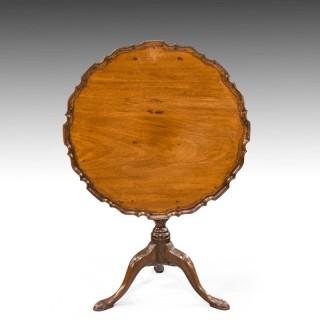 A Good George III Period Mahogany Pie-Crust Tilt Table
