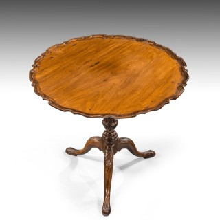 A Good George III Period Mahogany Pie-Crust Tilt Table