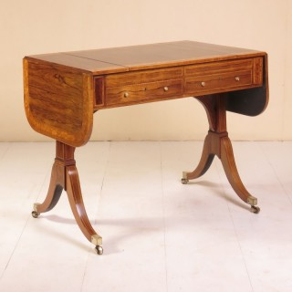 Sheraton Period Rosewood Sofa / Games Table