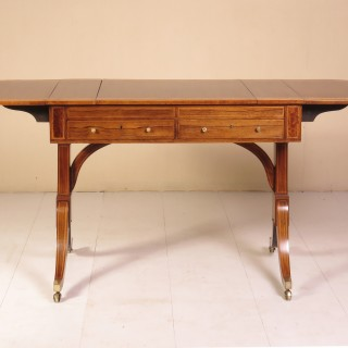 Sheraton Period Rosewood Sofa / Games Table