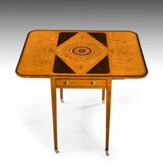 A Particularly Fine George III Period Satinwood Pembroke Table