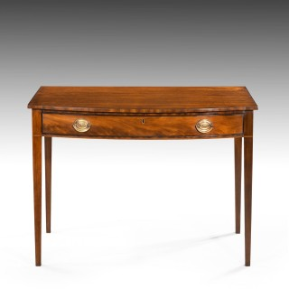An Attractive Late George III Period Mahogany Bow-Fronted Side Table