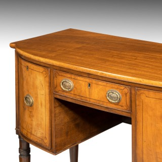A Small Regency Mahogany Bow Front Sideboard
