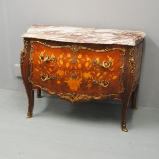 Louis XV Style French Marble Top Commode