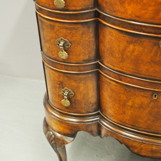 Matched Pair of George Style Walnut Chest of Drawers