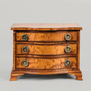 A George III Style Miniature Satinwood Commmode