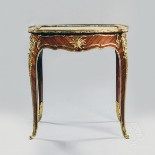 A Louis XV Style Gilt-Bronze Mounted  Vitrine Table By François Linke The Mounts Designed by Léon Messagé