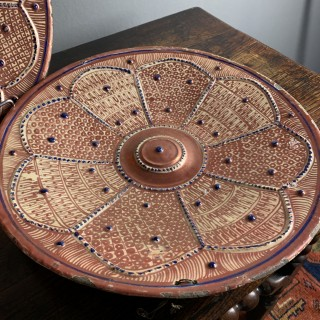 A Rare Pair Of Large 18th Century Hispano-Moresque Ware Plates