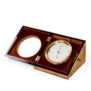 An aneroid desk barometer by C W Dixey