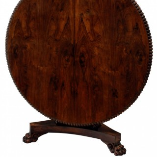 A FINE GEORGE IV ROSEWOOD BREAKFAST TABLE