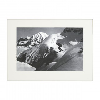 Vintage Style Ski Photography, Framed Alpine Ski Photograph, The Jump.