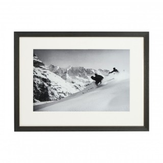 Vintage Style Ski Photography, Framed Alpine Ski Photograph, 'SCHUSS' Murren