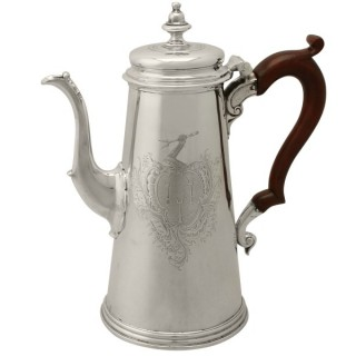 Sterling Silver Coffee Pot by Gabriel Sleath - Antique George II