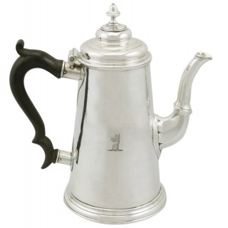 Newcastle Sterling Silver Chocolate Pot - Antique George II