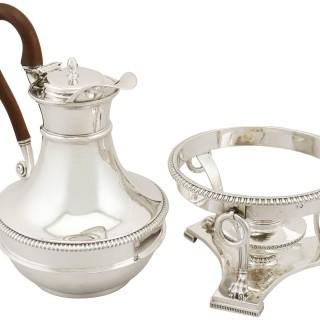 Sterling Silver Coffee Jug with Spirit Burner by Paul Storr - Antique George III (1803)