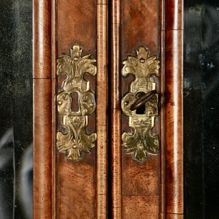 18th Century Queen Anne Figured Walnut Double Dome Bureau Bookcase