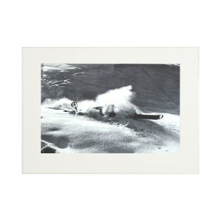 Vintage Style Ski Photography, Framed Alpine Ski Photograph, Nose Dive