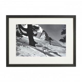 Vintage Style Ski Photography, Framed Alpine Ski Photograph, Zermatt, Riffelalp, Matterhorn.