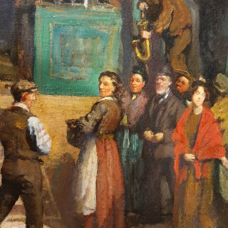 The Travelling Show by DENYS GEORGE WELLS (1881-1973)