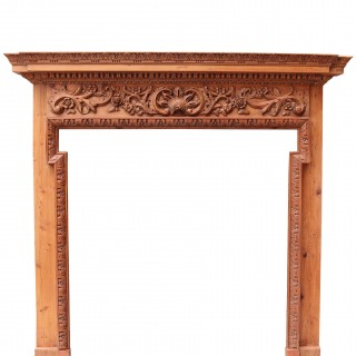 Georgian Style Carved Pine Fire Surround