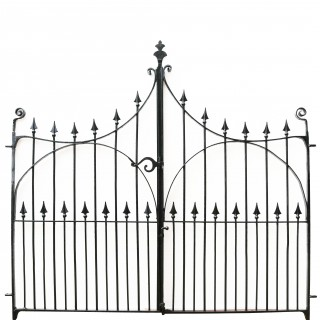 Pair Of Antique Wrought Iron Drive Gates