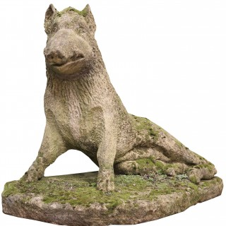 Limestone Statue Of The Uffizi Boar