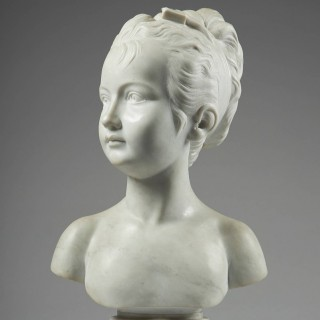 Late 19th Century Marble bust of a Girl