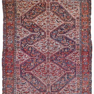Antique Khamseh 'Chicken' rug, Southern Persia
