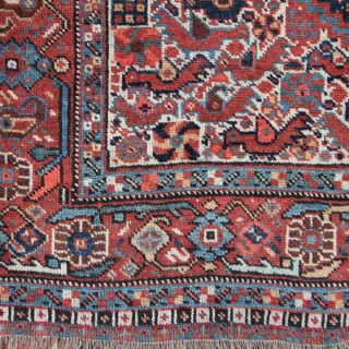 Antique Khamseh 'Chicken' rug, Southern Persia