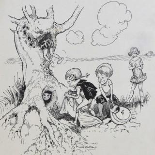 Frank Watkins - Putting the Cat in the Bag - original illustration