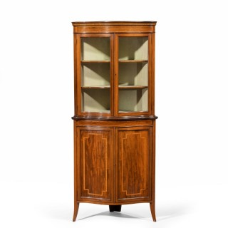 A Very Good Sheraton Design Corner Cupboard by Maple and Co
