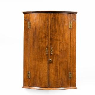 A George III Period Oak Corner Cupboard