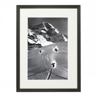 Vintage Style Ski Photography, Framed Alpine Ski Photograph, Scheidegg.
