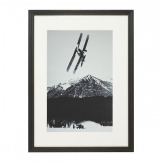 Vintage Style Photography, Framed Alpine Ski Photograph, The Race.