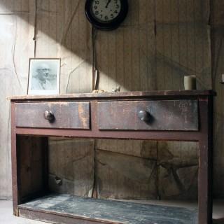 A Painted Pine Potboard Dresser Base c.1830-40