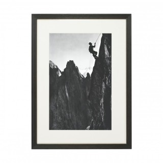 Vintage Style Photography, Framed Alpine Ski Photograph, The Climber.