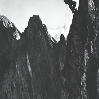 Vintage Style Photography, Framed Alpine Ski Photograph, The Climber.